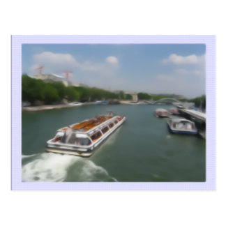Greetings From Paris (Seine-River) Postcard