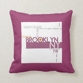 Greetings from Park Slope, Brooklyn Throw Pillow
