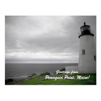 Greetings from Pemaquid Point, Maine! Postcard