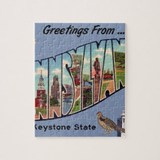 Greetings From Pennsylvania Jigsaw Puzzle