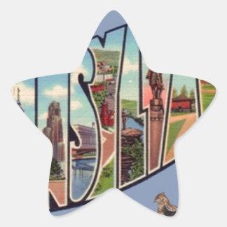Greetings From Pennsylvania Star Sticker