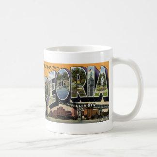 Greetings from Peoria IL Vintage Postcard Mug