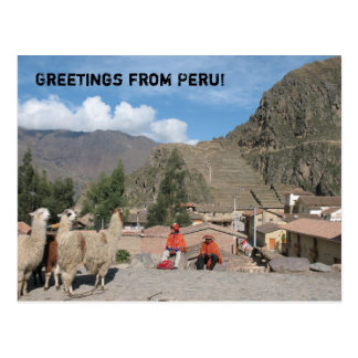 Greetings from Peru! Postcard