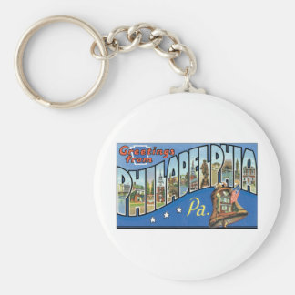 Greetings from Philadelphia, PA Keychain