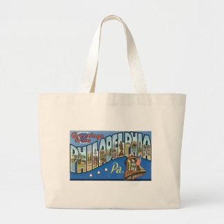 Greetings from Philadelphia, Pennsylvania! Jumbo Tote Bag