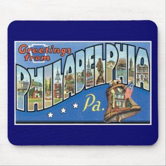 Greetings from Philadelphia, Pennsylvania! Mouse Pad