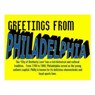 Greetings from Philadelphia Postcard