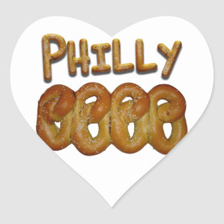 Greetings from Philly! Heart Sticker
