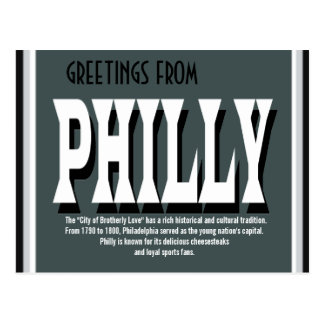 Greetings from Philly Postcard