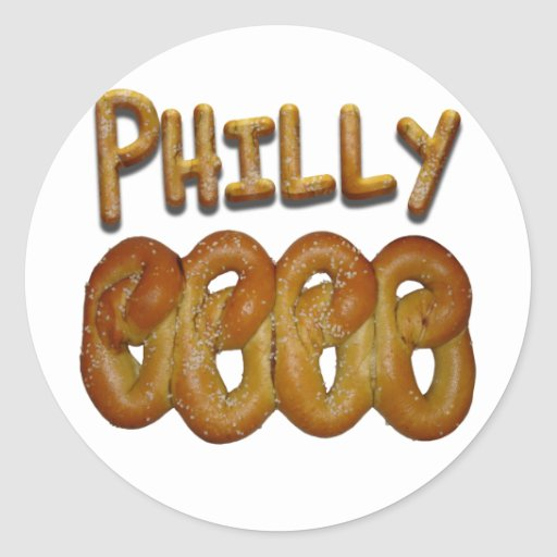 Greetings from Philly Round Stickers