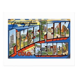 Greetings from Pikes Peak, CO! Postcard