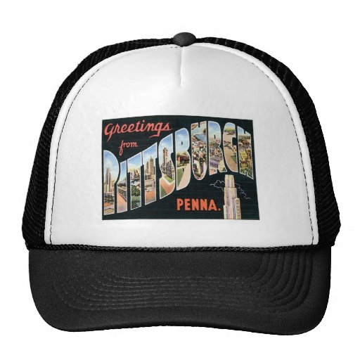 Greetings From Pittsburgh,Pennsylvania Mesh Hat