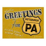 Greetings from Pittsburgh Pennsylvania Postcard