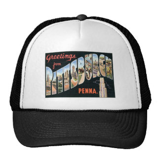 Greetings From Pittsburgh,Pennsylvania Trucker Hat