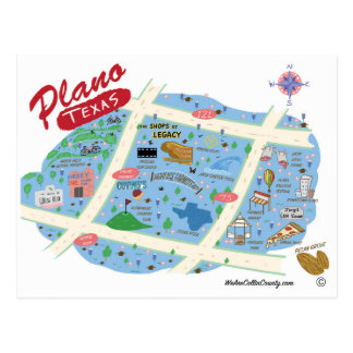 Greetings from Plano Texas Postcard