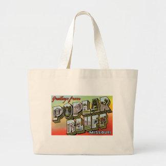 Greetings from Poplar Bluff Missouri Canvas Bags