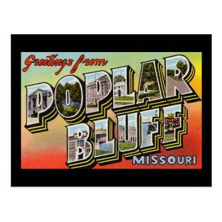 Greetings from Poplar Bluff Missouri Postcard