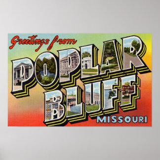 Greetings from Poplar Bluff Missouri Posters