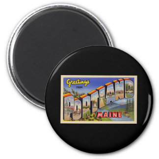 Greetings from Portland Maine 2 Inch Round Magnet