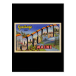 Greetings from Portland Maine Postcard