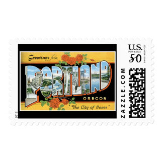 Greetings from Portland Oregon Postage