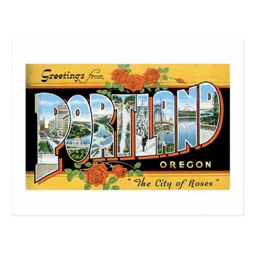 Greetings from Portland, Oregon! Postcard
