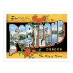 Greetings From Portland Oregon US City Postcard