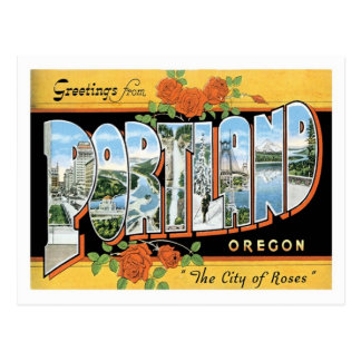 Greetings From Portland Oregon US City Postcard