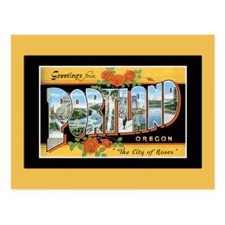 Greetings from Portland Postcard