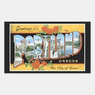Greetings from Portland Rectangular Sticker
