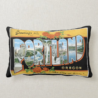Greetings from Portland Throw Pillow