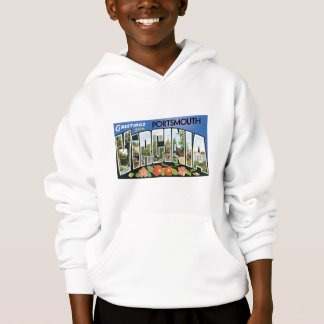 Greetings from Portsmouth, Virginia! Post Card Hoodie