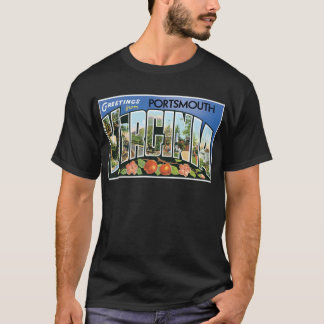 Greetings from Portsmouth, Virginia! Post Card T-Shirt