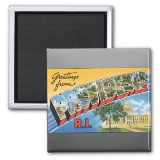 Greetings From Providence R.I., Vintage Magnet