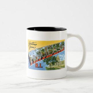Greetings from Providence, RI Mugs