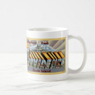 Greetings from Providence Vintage Postcard Mug