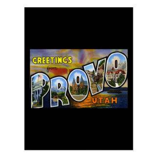 Greetings from Provo Utah Postcard