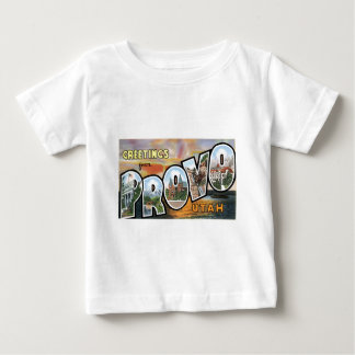 Greetings from Provo, Utah!  Retro Post Card Baby T-Shirt
