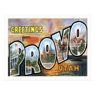 Greetings From Provo Utah US City Postcard