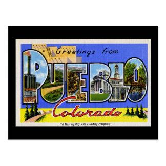 Greetings from Pueblo Colorado Postcard