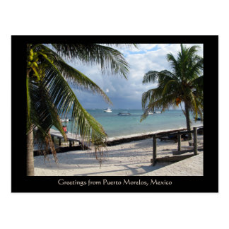 Greetings from Puerto Morelos, Mexico Postcard