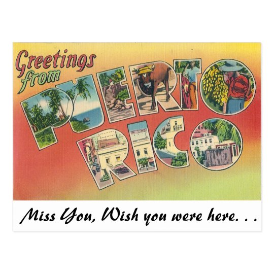 Greetings from puerto rico postcard zazzle greetings from puerto rico postcard m4hsunfo
