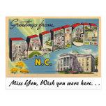 Greetings from Raleigh, North Carolina Post Card