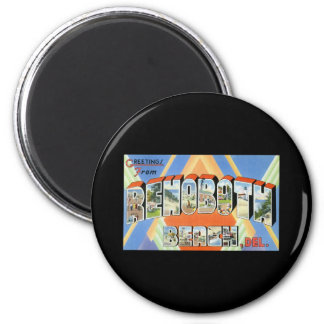Greetings from Rehoboth Beach Delaware 2 Inch Round Magnet