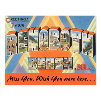 Greetings from  Rehoboth Beach Postcard
