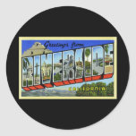 Greetings from Riverside California Round Stickers