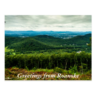 Greetings From Roanoke Postcard