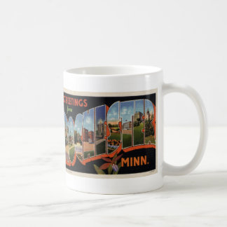 Greetings from Rochester Vintage Postcard Mug