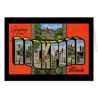 Greetings from Rockford Illinois Card