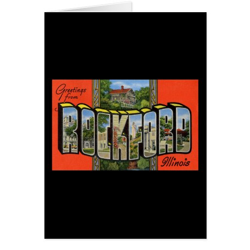 Greetings from Rockford Illinois Greeting Card